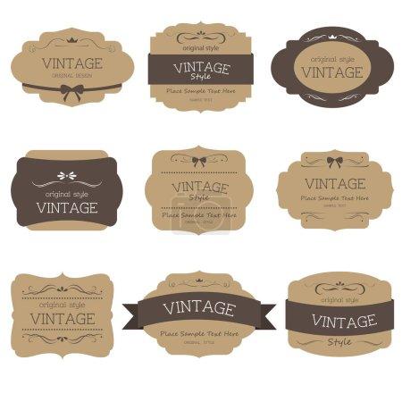 Illustration pour Ensemble d'étiquettes vintage et design old fashion . - image libre de droit