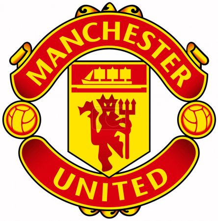 """The emblem of the football club """"Manchester United"""". England"""