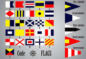 Complete set of Nautical flags for letters