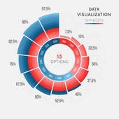 Vector circle chart infographic template for data visualization with 13 parts Easy to edit and to build your own chart