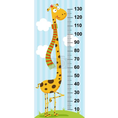 long neck giraffe height measure