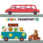 set of isolated transports with animals part 5