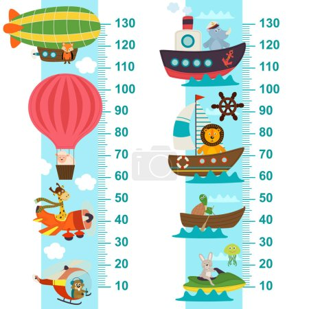 air and sea transport height measure