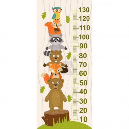 growth measure with forest animal