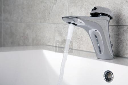 Water flowing to the sink