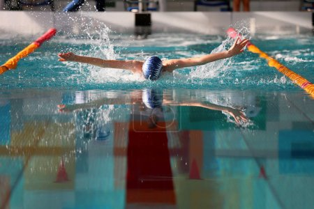 Swimming competition in high school, for young athletes.