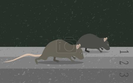 Concept rat race metaphor