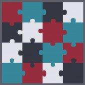 Puzzle clip art icon vector