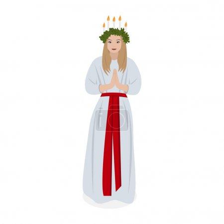 Illustration pour Tradition scandinave Sainte Lucie, vecteur - image libre de droit
