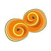 Clip art saffron bun