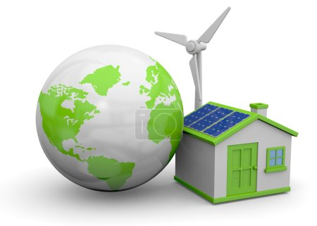 World, house and renewable energy...