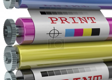Photo for Print Machine on white background - Royalty Free Image