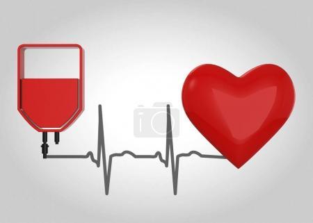 Blood Donation Concept - 3d...