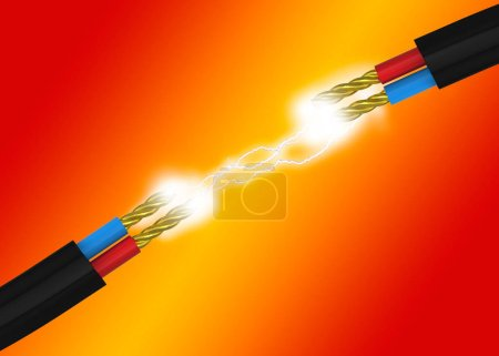 Photo for Electricity power and Cable - 3D - Royalty Free Image