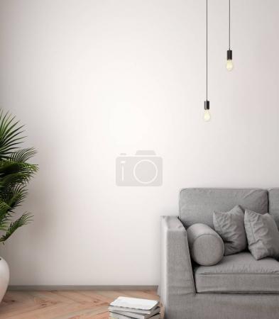 Photo pour Affiche de maquettes à l'intérieur, illustration 3D d'un design moderne. - image libre de droit