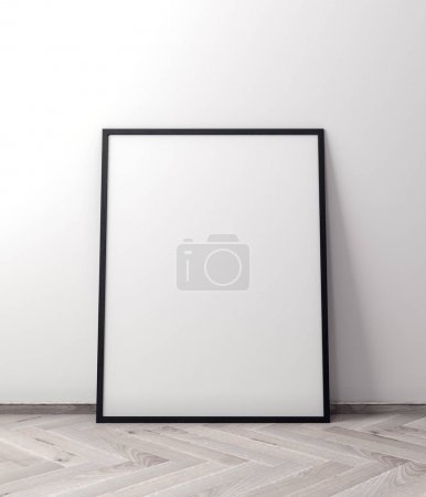 Photo for Mockup Poster in the interior, 3D illustration of a modern design. - Royalty Free Image