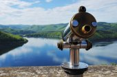Edersee View from Castle Waldeck with Telescope