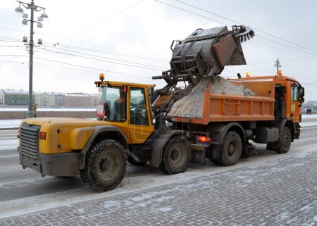 Snow removal from roads.