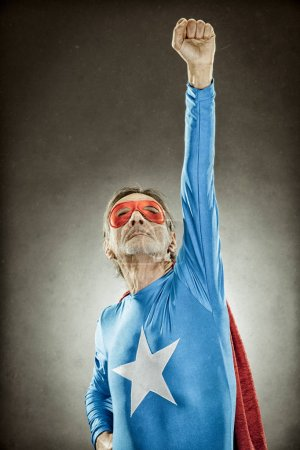 senior superhero man