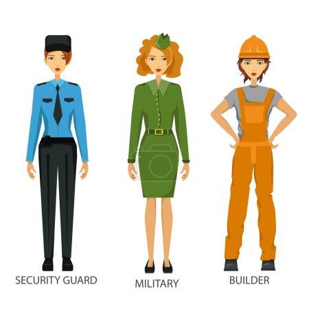 Femmes travaillant dur ensemble de travail