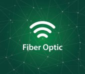 illustration symbol for fiber optic or optical fiber that can transmitting information from one place to another by sending pulses of light