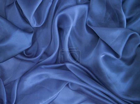 Photo pour Fond de tissu bleu, organza - image libre de droit