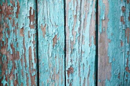 Foto de Viejo muro de madera pintada con pintura a la par. - Imagen libre de derechos