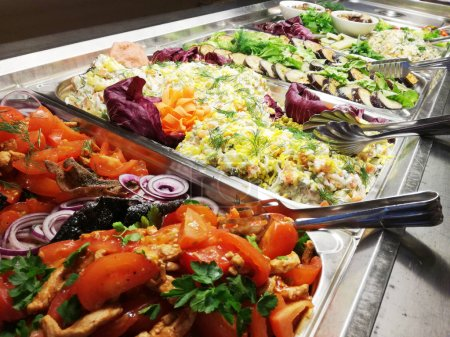 Photo for Choice of salads, buffet close up shot - Royalty Free Image