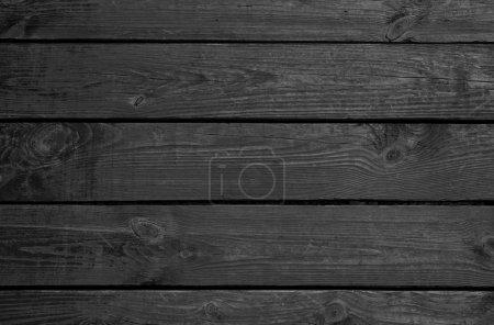 Foto de Fondo de los tableros de madera negra, horizontalmente - Imagen libre de derechos