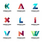 A set of logos for your business The initial letters of the company name