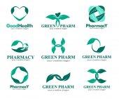 Logos for pharmacies clinics medical cosmetics and health