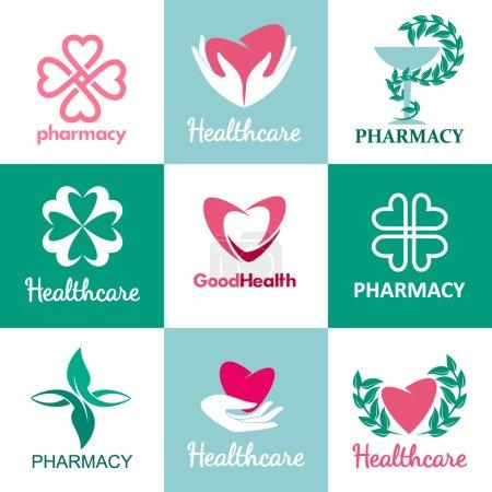 Logos for pharmacies clinics medical