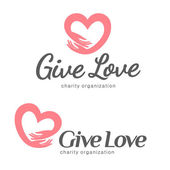 Logo for charity and care Logo for the orphanage elderly care Give love