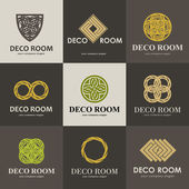 A collection of logos for interior furniture shops companies make furniture decor items and home decoration Set 1
