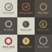 Luxury logo set A collection of logos for products recommended luxury boutiques hotels cosmetics SPA