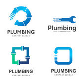Vector logo design for plumbing company