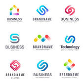 Collection of vector logos for business Alliance Unity Team Work