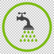 Shower Tap vector icon. Image style is a flat eco ...