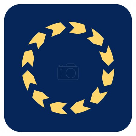 Circulation vector icon. Image style is a flat ico...