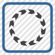 Circulation cobalt and gray vector icon. Image sty...