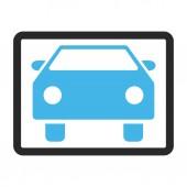 Auto zarámovaný vektorové ikony