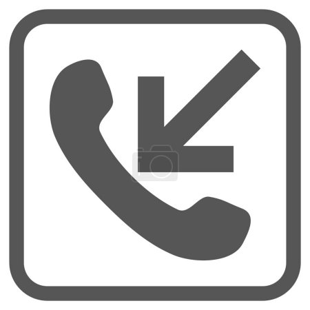 Incoming Call Vector Icon In a Frame