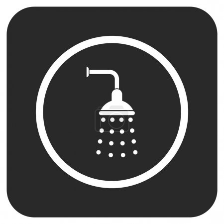 Shower vector icon. Image style is a flat icon sym...