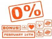 0 Percent Rubber Stamp with Bonus