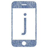 J Phone Fabric Textured Icon