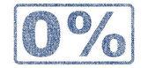 0 Percent Textile Stamp