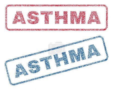 Asthma Textile Stamps