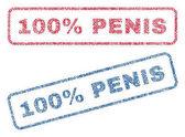 100 Percent Penis Textile Stamps