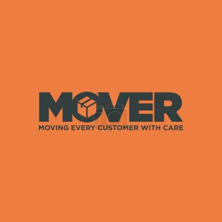 Ilustración de Un logotipo listo para mover el negocio de servicios - Imagen libre de derechos