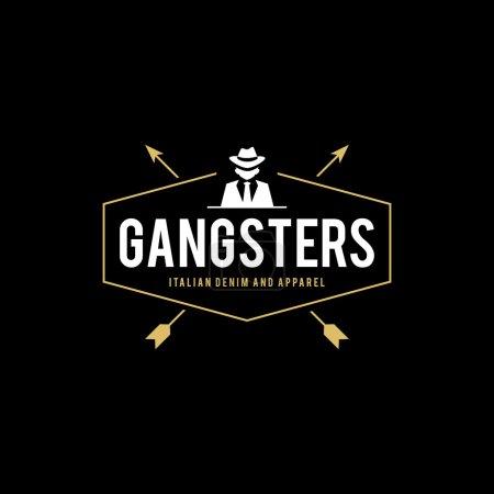 Ретро знак гангстеров и мафию